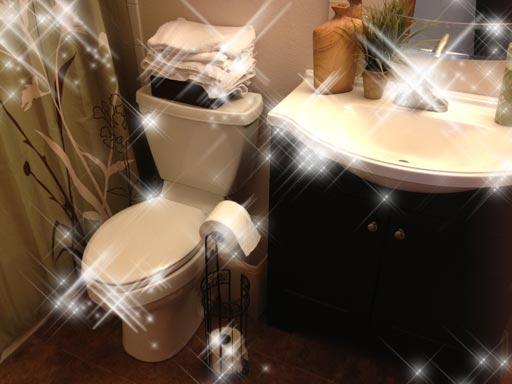 блясък в банята